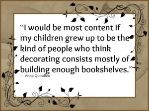 I would be most content...reading quote